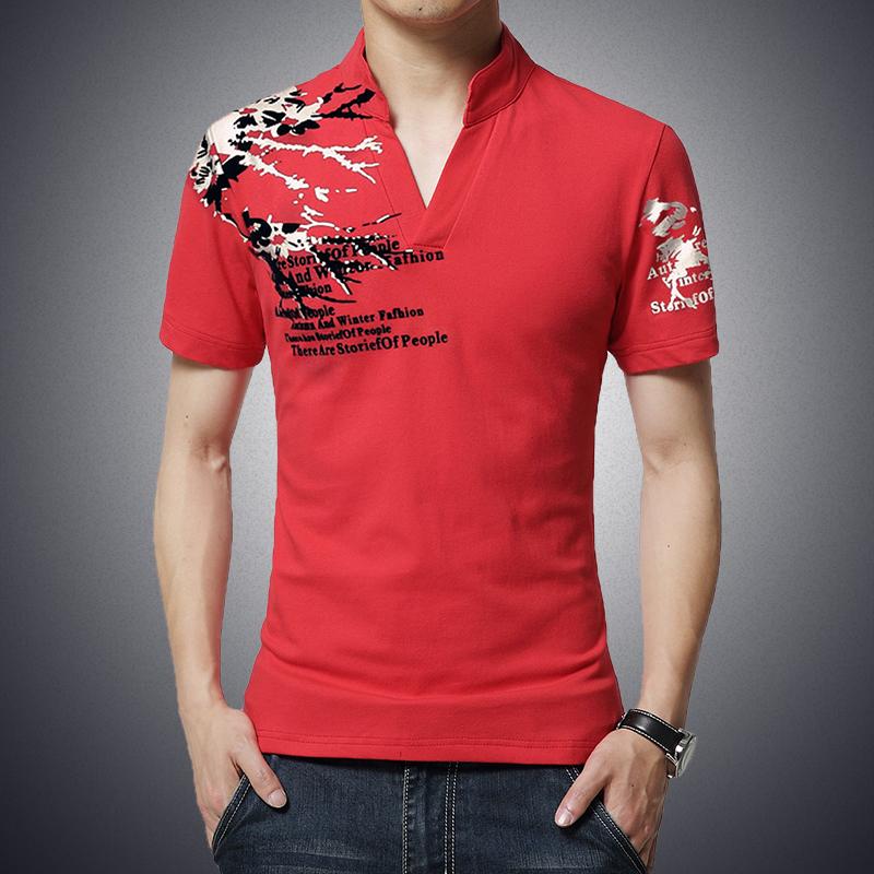 Men polo shirts short sleeve fashion 2016 v neck shirt for Plus size golf polo shirts