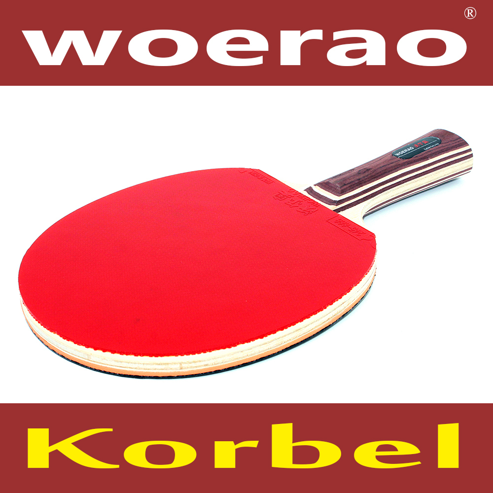 Table tennis racket Pimples-in rubber Woerao Korbel Ping Pong Racket bat for attack and loop drive at near tabel low price(China (Mainland))