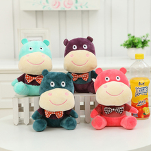 The wedding holiday party Creative Hippo Plush toy Special-purpose Throwing small doll Car lovely Pendant Best birthday gift