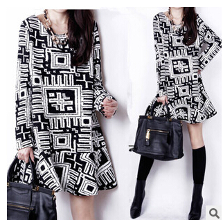 2015 4 sizes Autumn Loose big yards fashion pregnant woman dress long sleeve maternity clothes MOQ 1 piece - Rella Song's store