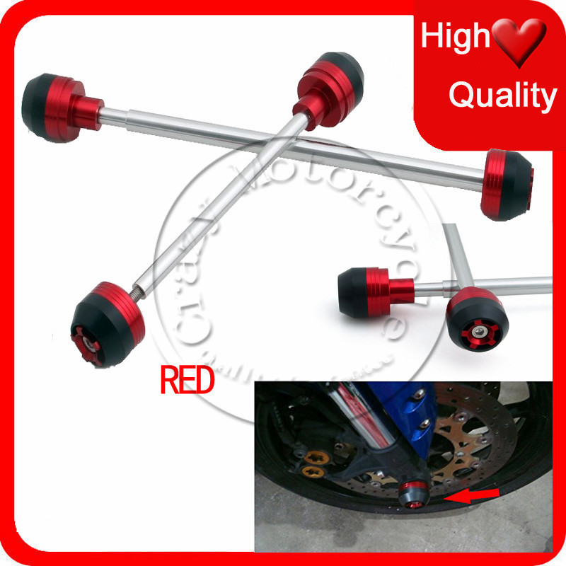 Fit For Honda CBR600RR CBR 600 RR 2005-2006 Front Rear Axle Fork Carsh Sliders Cap Red Motorcycle Falling Protection<br><br>Aliexpress