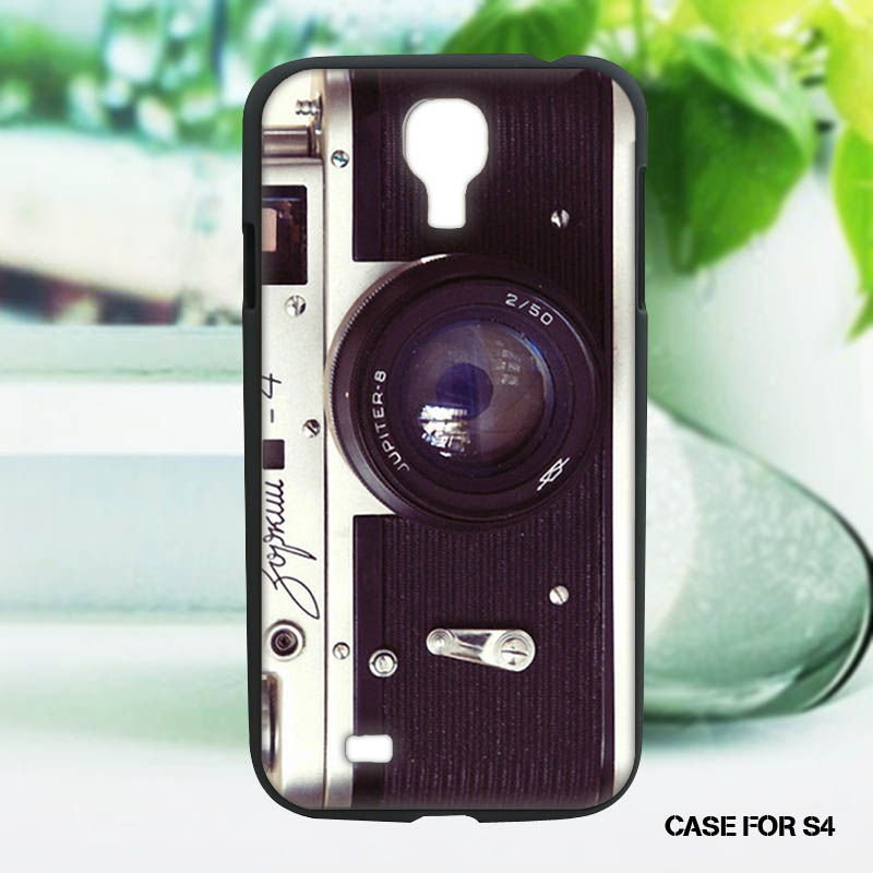 Camera Wallpaper Discount Classic Original Plastic Mobile Phone Shells for Samsung s4(China (Mainland))