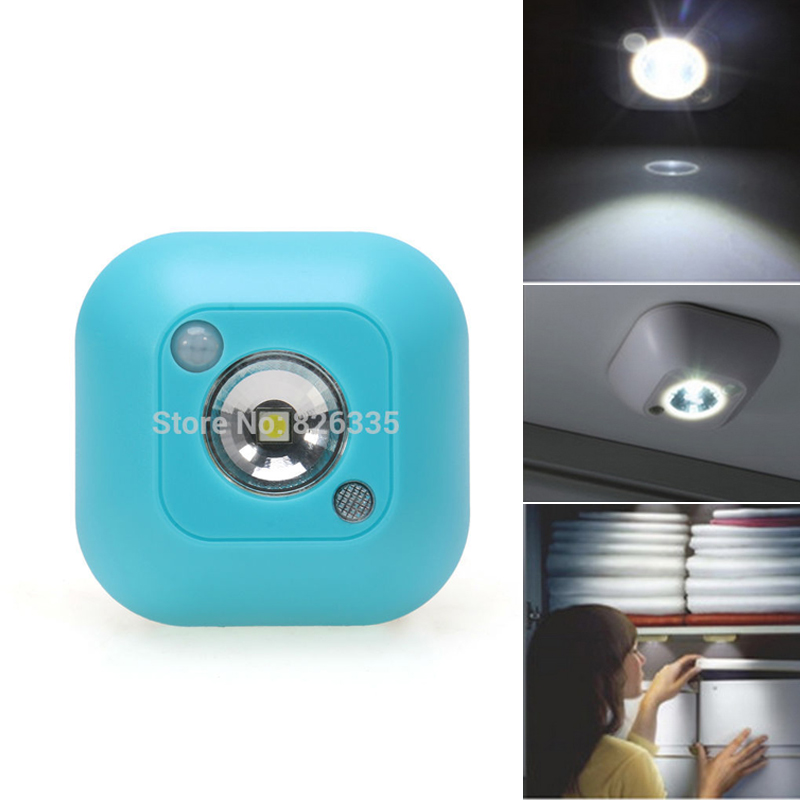 Mini LED Wireless Night Light Motion Activated Sensor Lights Battery Powered Wall Emergency Night Lamp On Sale(China (Mainland))