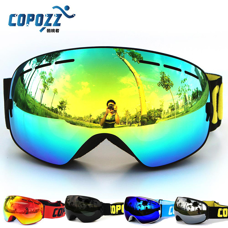 New brand professional ski goggles double lens anti-fog UV400 big ski glasses skiing snowboard men women snow goggles(China (Mainland))