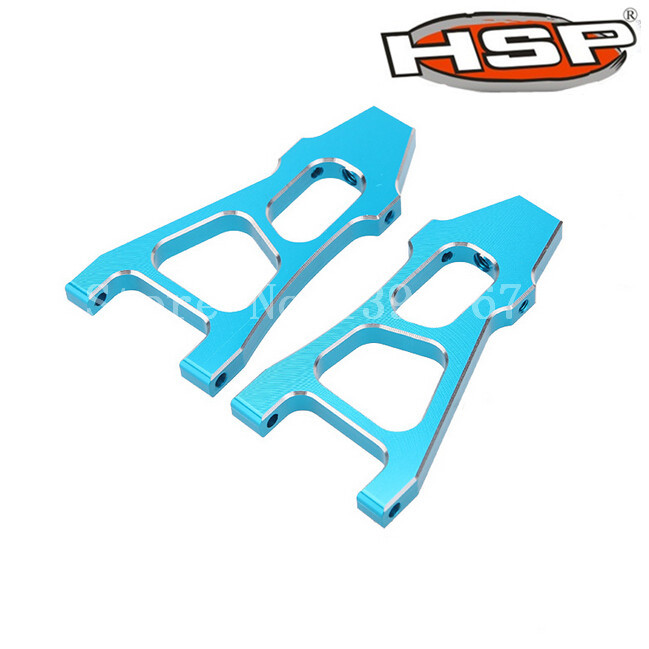 HSP Upgrade Parts 188019 (08037) Blue Aluminum Front Lower Suspension Arm 2P For 1/10 Scale Models Monster Truck 94188 RC Car(China (Mainland))