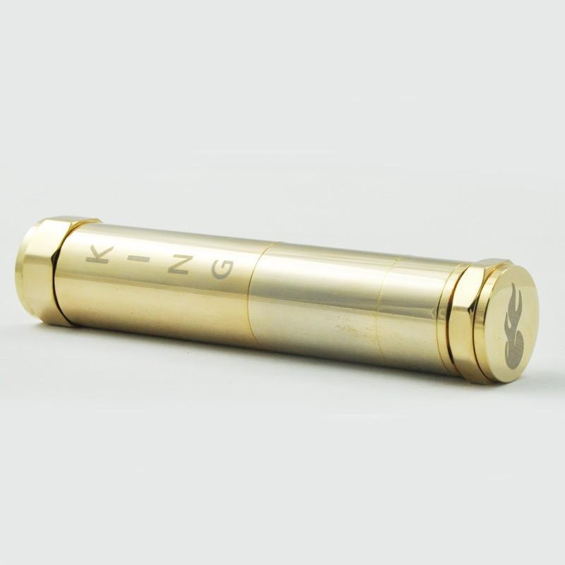 нержавеющей меди механический мод для 18350/18650 аккумулятор, король, король мод клон покрытие от окисленного