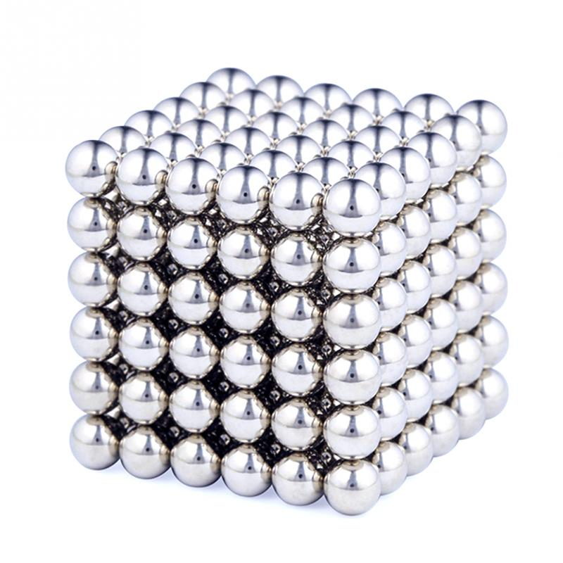 216 Pcs/Set Cube Neodymium Magnet Balls 3mm Magnetic Balls for Building 2-D or 3-D Objects Cube Toys with 1 Metal Box #45(China (Mainland))