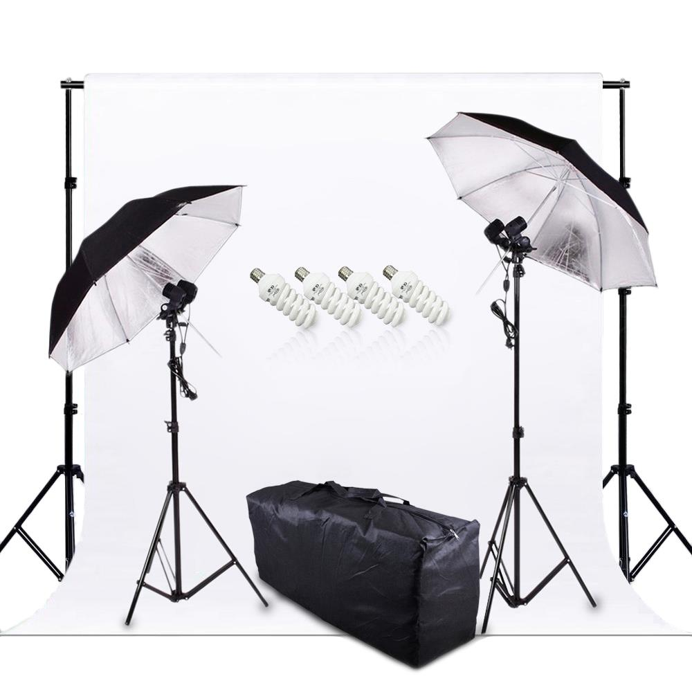 800W Studio Light Continuous Lighting  Non Woven Fabric Backdrop Umbrella Carry Bag background support system 2m Studio Stand<br><br>Aliexpress