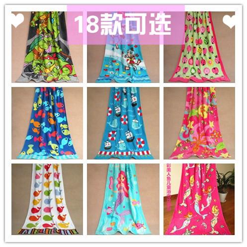 children Bath Towel 2015 Child And Adult Cartoon Towel 100% Cotton Summer Air Quilt Blankets(China (Mainland))