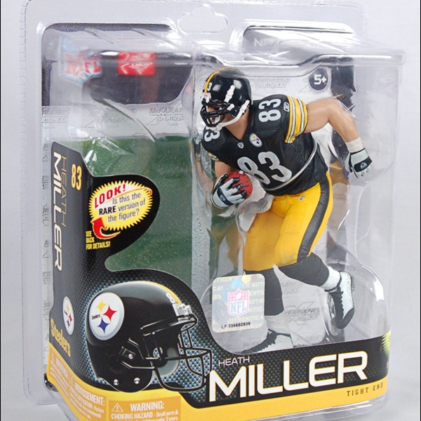 Animation Garage Kid Collection Kids Toys: McFarlane Action Figure PVC Dolls NFL Football Player Heath Miller Model Best Gifts(China (Mainland))