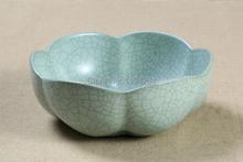 Chinese Ceramic Ware Lotus Pattern L Cha Xi Tea Wash Brush Wash Kung Fu Tea Set
