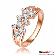 Cute 18K Rose Gold Plate Austrian Crystal Rings Couple Ring For Women 23*9mm Ri-HGC0025