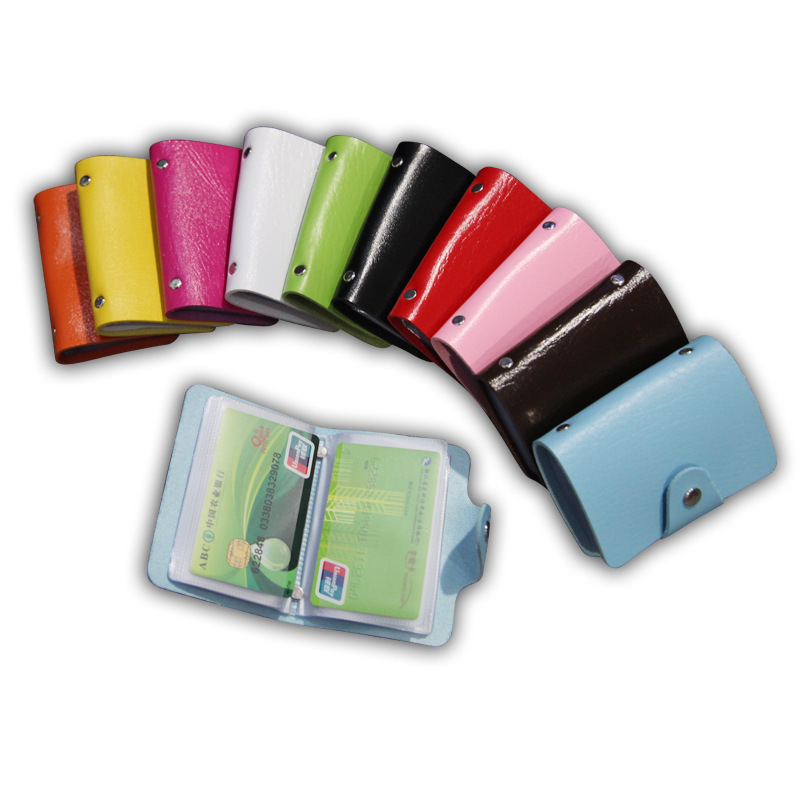 24 Slots credit cards Men and Women pu Leather Credit Card Holder ID holders Card holders