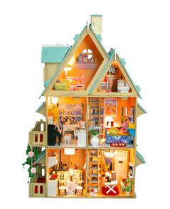 Hot sale DIY Wooden Miniatura Doll House Furniture Handmade 3D Miniature Dollhouse Toys(China (Mainland))