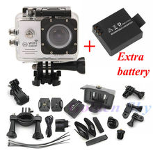 Two batteries Action Camera SJ7000 Wifi 2.0 Screen Sports extreme mini cam recorder marine diving 1080P HD DV like go pro Hero 4