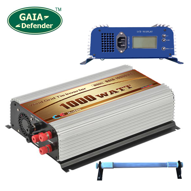 1000W LCD display Wind Power Grid Tie Inverter with Dump Load Controller Resistor for 3 Phase wind turbine(China (Mainland))
