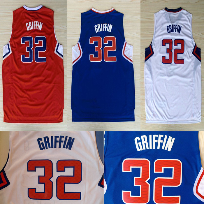 Fast LAC Blake Griffin Jersey #32 Basketball Jersey, New Material Rev 30 Embroidery Los Angeles