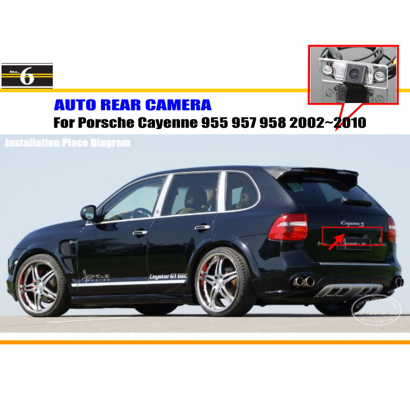 Car Rear Camera For Porsche Cayenne 955 957 958 2002~2010 / Back Parking Camera / HD CCD RCA NTST PAL / License Plate Lamp OEM(China (Mainland))