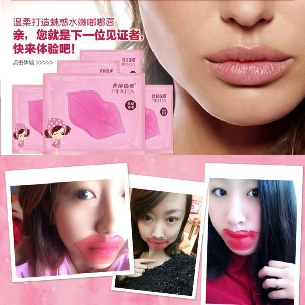 5Pcs Lip Mask Collagen Crystal Anti Ageing Membrane Moisture Essence Lip Mask Freeshipping