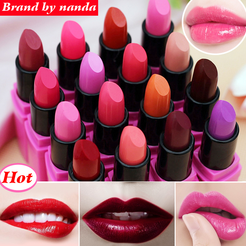High Quality!Brand BY Moisturizer Long Lasting Waterproof Matte Lipstick Nude lip stick lipgloss 1pcs lip balm batom/pintalabios(China (Mainland))