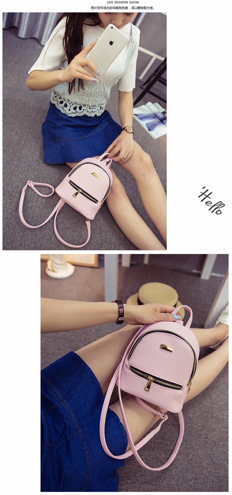Small Fashion Rucksack Hotsale Women Shopping Purse Ladies Joker Bookbag Travel Bag Student school Backpacks Mini Women Backpack 4