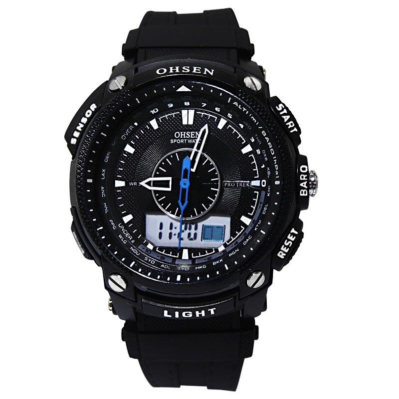 Top Luxury OHSEN Mens Digital Sports Watches 3ATM Water Proof Digital/quartz Mens watch relogios montre homme military watch(China (Mainland))