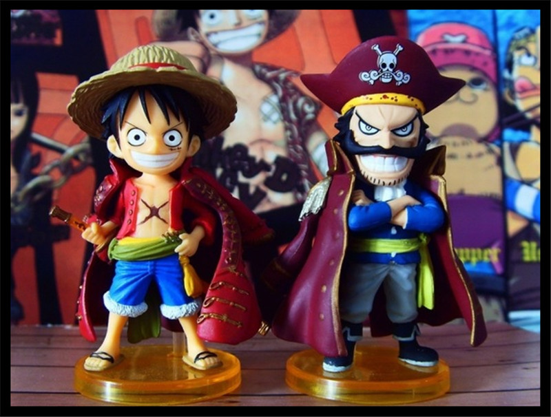 SAINTGI Japan One Piece New World Action Figuarts Zero Monkey D Roger Luffy PVC 6CM Limit Garage Anniversary Limited Edition