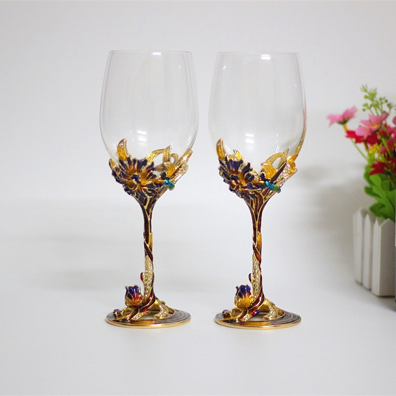 Online Get Cheap Red Colored Wine Glasses