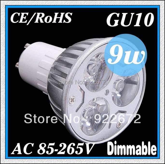 GU10/E27/MR16 3W 9W 12W 15W 18W 110/220V Dimmable High power CREE LED Spot Light Bulb Spotlight downlight lamp 50W replacement(China (Mainland))