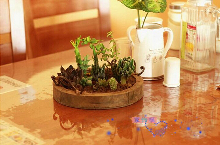 European-style wooden flower pot retro countryside basket courtyard modern flowers potted plant furnishing article(China (Mainland))