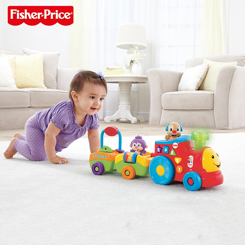 Fisher Learning Small Train (English Version) Early Childhood Toys Climbing Toys Early Childhood Educational Toy BHC29(China (Mainland))