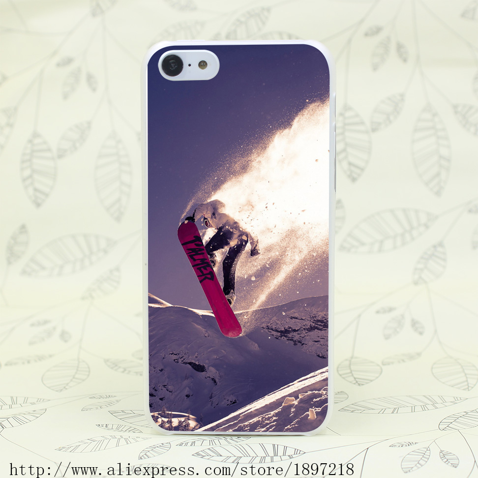 4253T Snowboarding Stunt Trick Jump Snow Ice Hard Transparent Cover Case for iphone 4 4s 5 5s 5C SE 6 6s Clear Cell Phone Cases(China (Mainland))