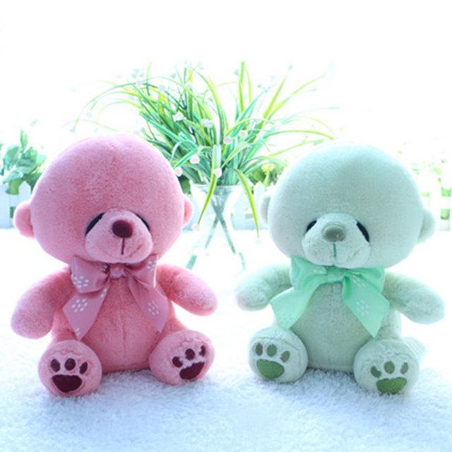 (1 Шт.) милые Глаза Мерцают Игрушечные Плюшевые Игрушки Huggable Спать Сопровождать Чучела Куклы Зеленый Розовый Медведи Детские Игрушки Подарки 25 СМ