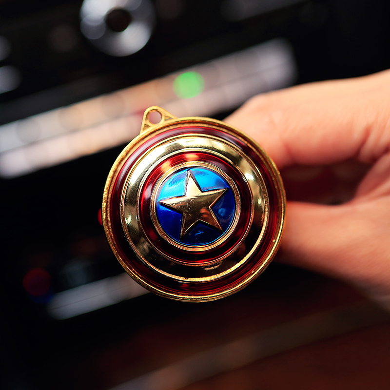 Hot sale Captain America shield car air freshener Car outlet perfume original fragrance car perfumes brands cars flavoring scent(China (Mainland))
