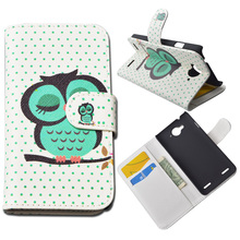 Printing Leather Cover ZTE U9180 V5 Wallet Case Stand Card Holder 10 Colors Stock - SAiBORUiSi Store store
