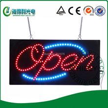 Wholesale LED 5mm  led open sign/ DC12V acrylic animational  sign/electronic neon letter acrylic sign /9*19inch window sign(China (Mainland))