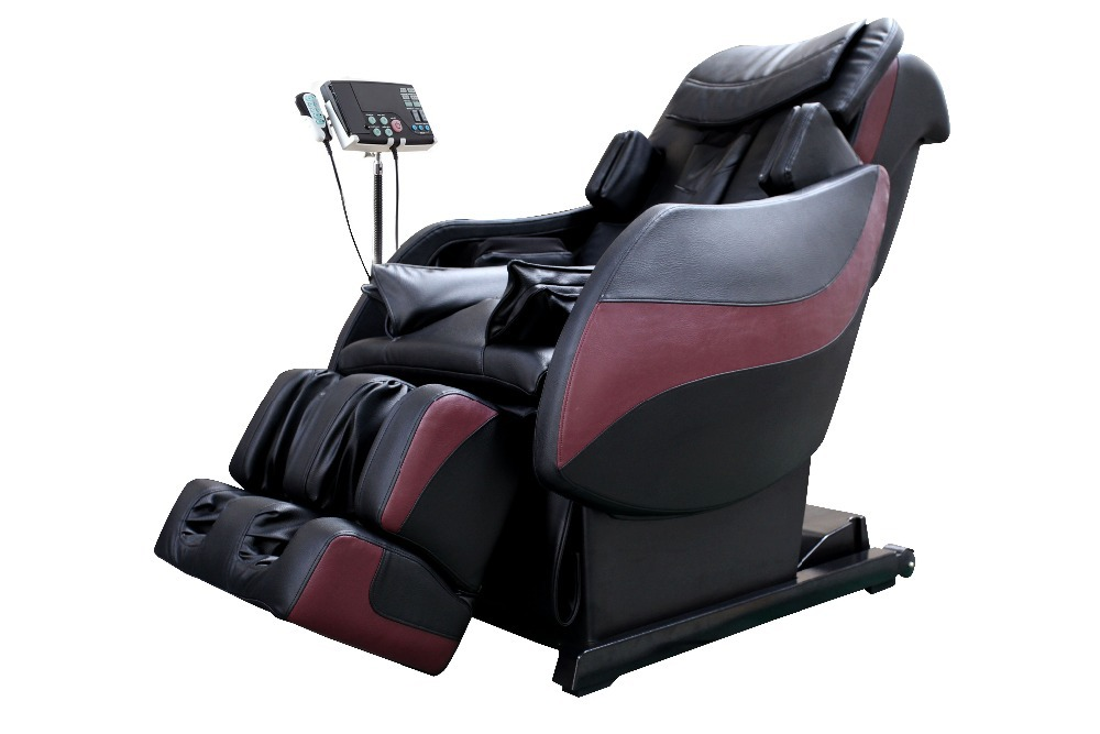 3D Roller Mechanism Design Zero Gravity Massage Chair with MP3/MP4/AV/DVD/VCD Device (Color Black and Red)(China (Mainland))