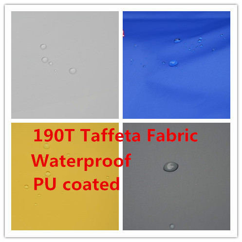 Shiny 190T Taffeta Waterproof Fabric Polyester Outdoor Sunscreen Repellent Upholstery Furniture Fabric PU Coated 2 Meter(China (Mainland))
