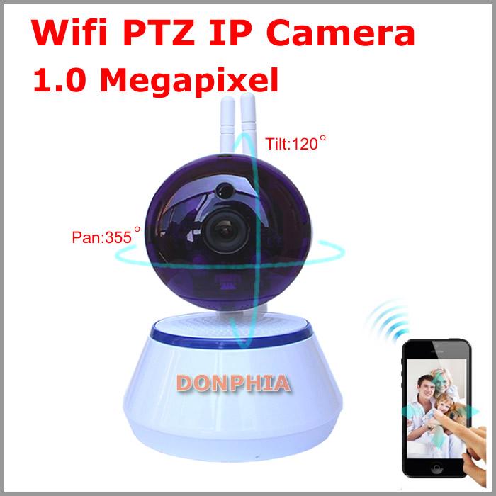 New 720P Mini WIFI Camera Full HD wireless indoor IR Night vision PTZ Security System Android IPhone P2P Onvif CCTV IP Camera(China (Mainland))