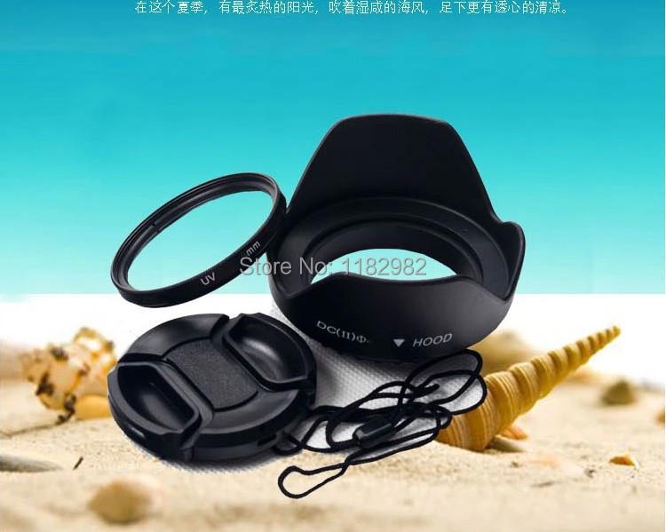 12 - E - 50 M1 M5 M10 PM1 PM2 OMD 10pcs 52 MM lens Filter   UV Filter Lens  + 10pcs  lens hood +  10pcs 52 mm lens cap