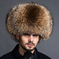 Winter fur hat male middle aged men thick leather ear Lei Feng cap elderly fox fur