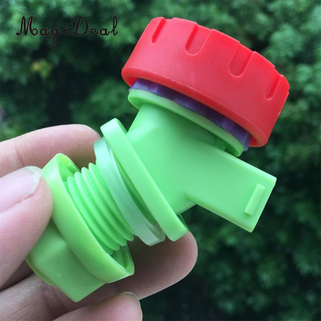 MagiDeal Replacement Knob Type Plastic Faucet Tap for Water Bucket Wine Juice Bottle Camping Hiking Outdoor Tools