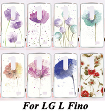 Beautiful Colourful Flowers Back Cover PC Skin Luxury Phone Cases For LG L FINO D290 D290N D295 Painting Style Shell