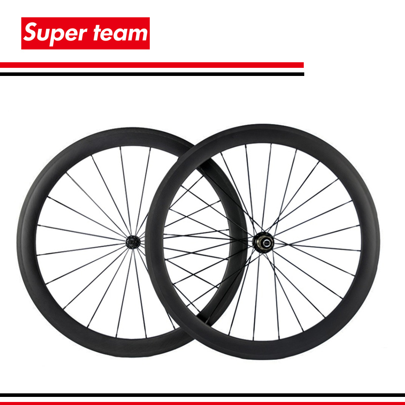 1 pair New 700c Tubular Carbon Wheels 50mm Matte Road Wheelset with Black spokes Black Hub(China (Mainland))