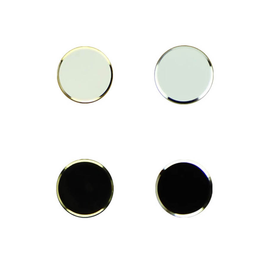 Top Quality Attractive 2Pcs Black+ 2Pcs White Metal Aluminum Home Button Keypad Sticker For iPhone 5 5S Wholesale Free Shipping(China (Mainland))