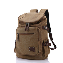 High Quality Men Backpack Zipper Solid Men's Travel Bags Canvas Bag mochila masculina bolsa sport school bags(China (Mainland))