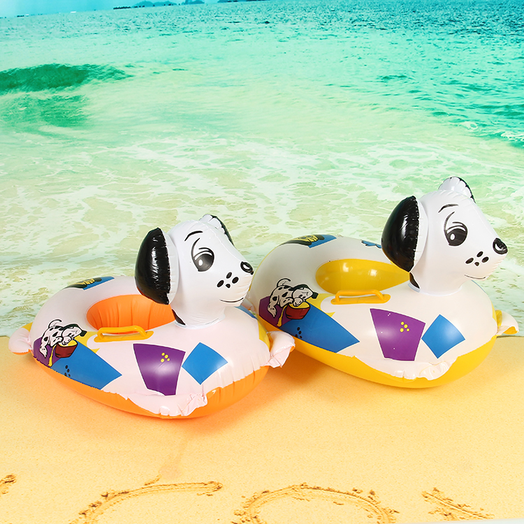 New Cute Kids Baby Child Inflatable Toddler Swimming laps Swim Seat Ring Seat Float Pool Ring Puppy shape free shipping(China (Mainland))