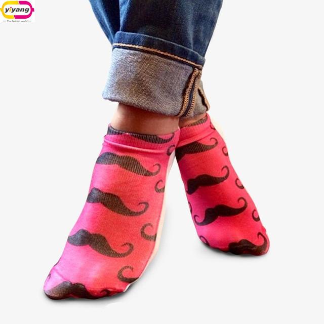 Случайные доставки 1 пара Mujer носки мода 3D цифровой отпечатано мужская симпатичные ...