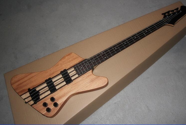Thunder bird 4 strings bass, electric bass full-bodied inferior smooth log color The black stripe 0404