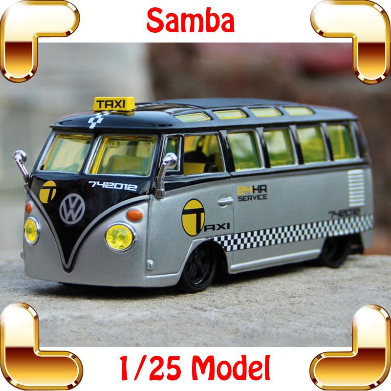 New Year Gift Maisto Samba Bus 1/25 Mini Metal Model Collection Vehicle Bus Scale Car Simulation Design Children Toys Decoration(China (Mainland))